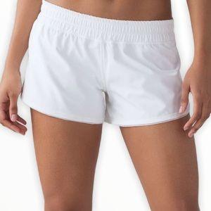 Lululemon Seek The Heat White Gym Shorts 12 Large